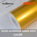 Gloss Aluminium - Amber Gold