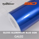 Gloss Aluminium - Blue Gem
