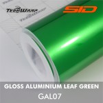 Gloss Aluminium - Leaf Green