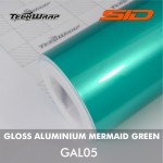 Gloss Aluminium - Mermaid Green