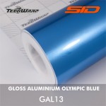 Gloss Aluminium - Olympic Blue