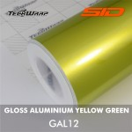 Gloss Aluminium - Yellow Green